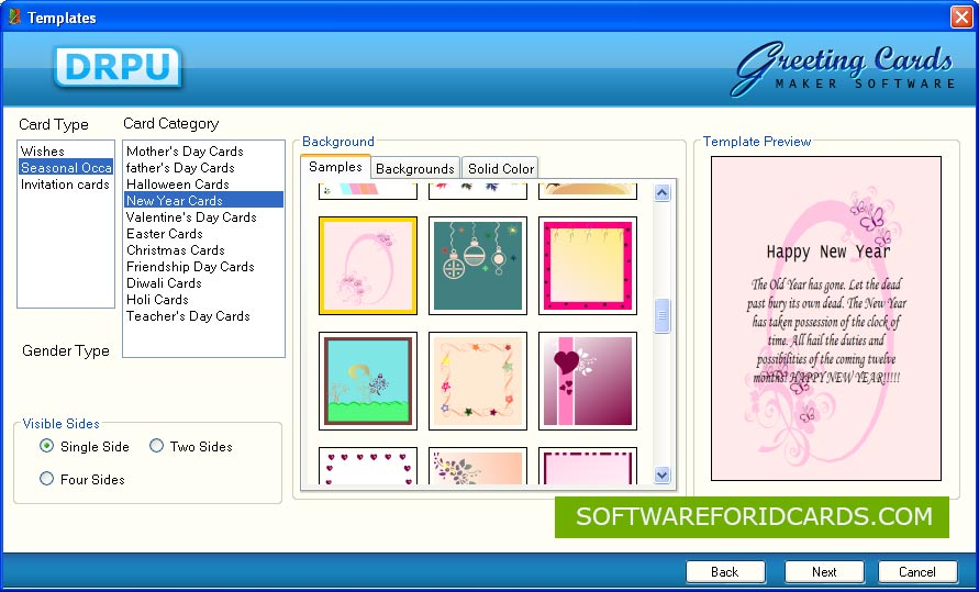 Software for Greeting Cards screenshot