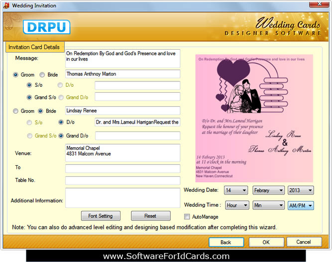 Latest free marriage card making software downloads inexpensive marriage card designer tool stopboris Image collections