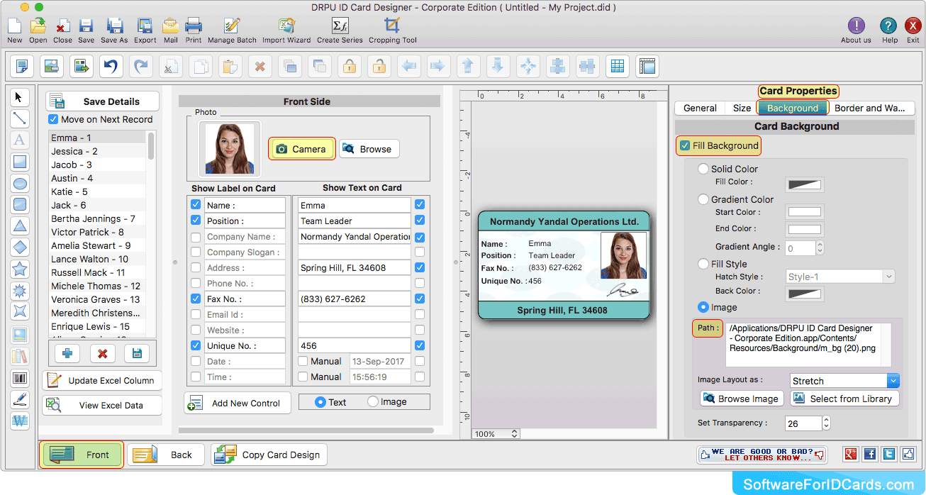 Mac Id Cards Maker Corporate Edition Screenshots To Learn Id Card