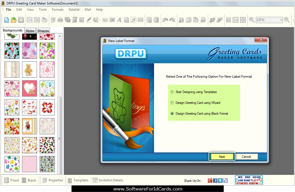 Screenshots of greeting cards designing software for how to create greeting cards designing software m4hsunfo