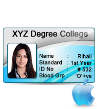 Mac Id Cards Designing Software Design Student Id Cards Visitor Id