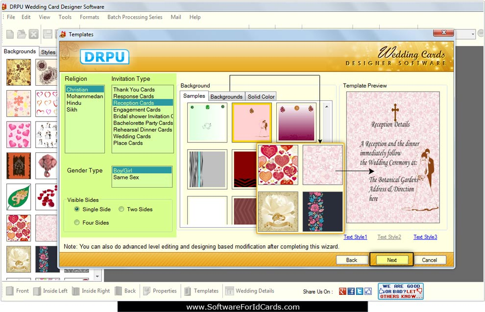 Screenshots Of Wedding Cards Software To Learn How To Make Invitation Card